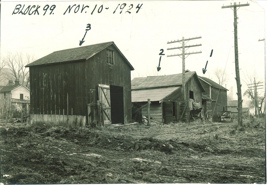 Block 99 before demolition. Photograph courtesy the University of Iowa libraries.