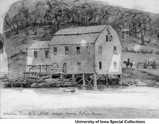 Terrell Mill, 1855 Frederick W. Kent Collection of Photographs, Department of Special Collections and University Archives, The University of Iowa Libraries