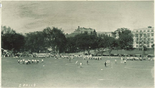 The Women's Athletic Field shortly after construction. Photograph courtesy University of Iowa libraries.