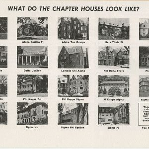 20 pictures of what different fraternity, and sorority houses looked like. 1965/1967