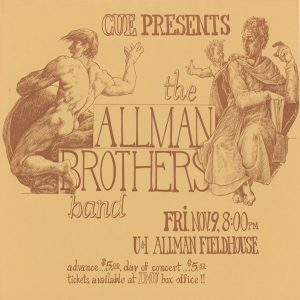 An advertisement for the Allman Brother Band, from November 1973.