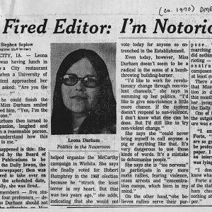 Leona Durham article