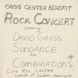 Crisis Center Benefit poster, ca 1970