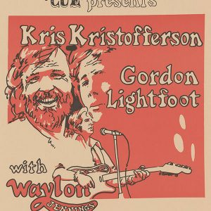 Kristofferson, Lightfoot, Jennings poster, 1973