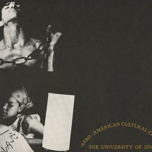 Early poster for Afro American Cultural Center, ca 1971
