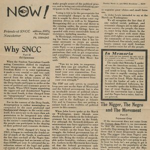 Friends of Student Non-violent Coordinating Committee (SNCC)