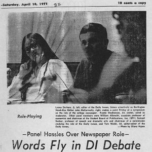 Leona Durham article from 1970