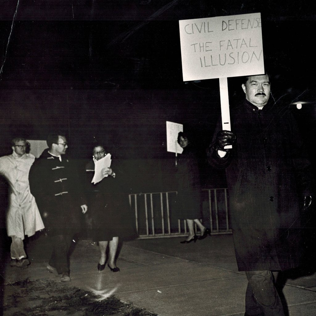 Larry Barrett participating in a protest, circa 1964-1968