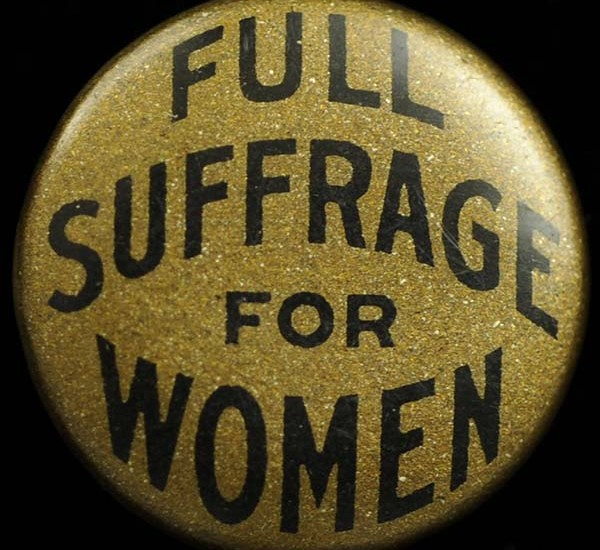Full Suffrage for Women button