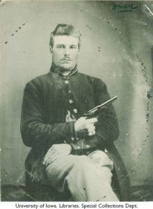 Union Soldier Poses for Portrait, ca 1863, Ashland Iowa
