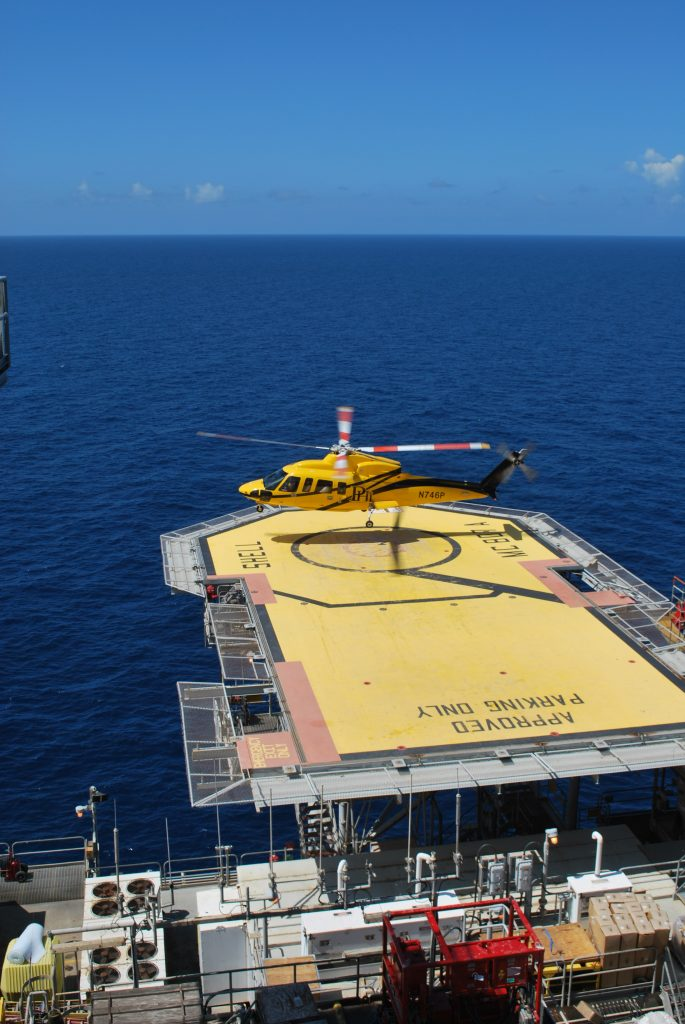 Petroleum Helicopter landing on Mars Helipad - Woody Woodward, May 2009