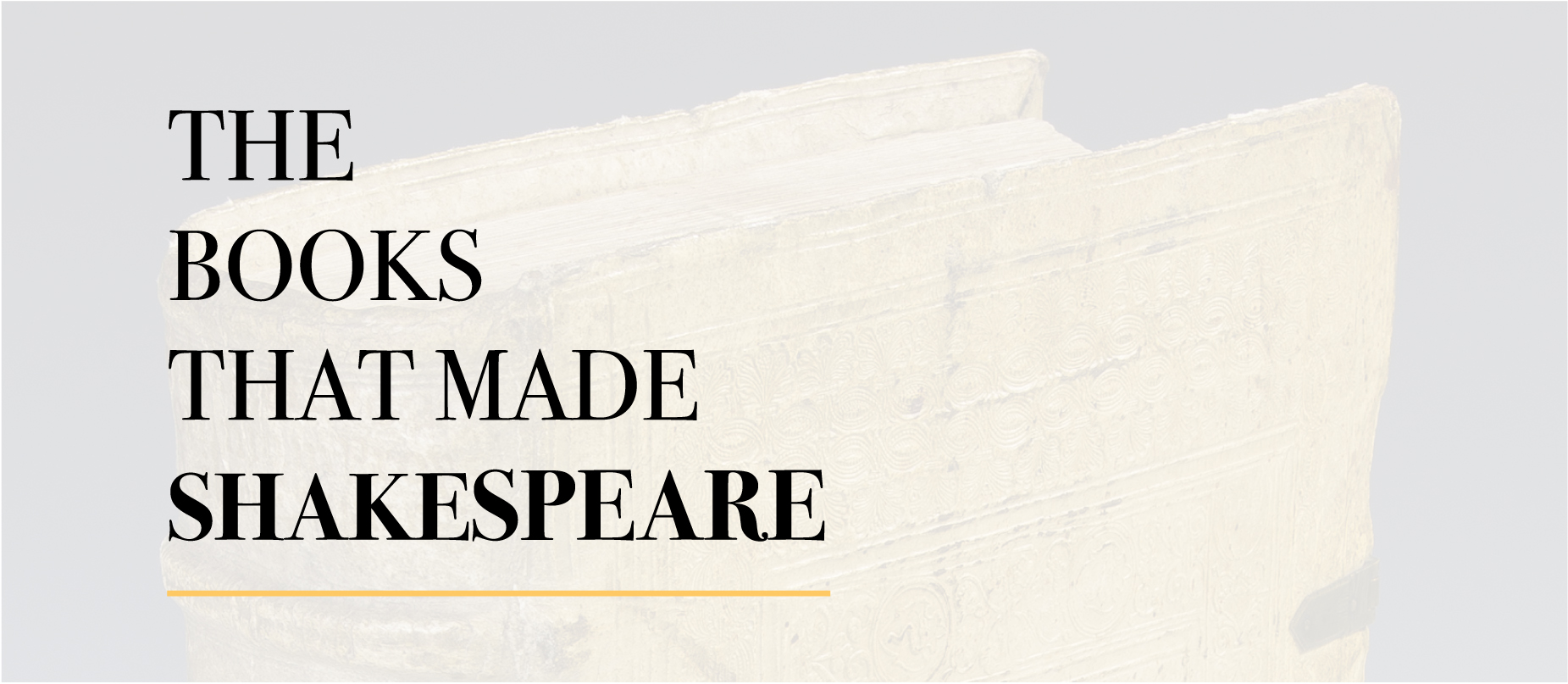 The Books that Made Shakespeare