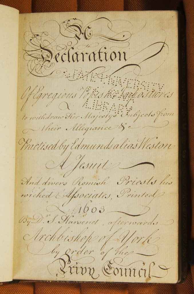 Hand-written title page