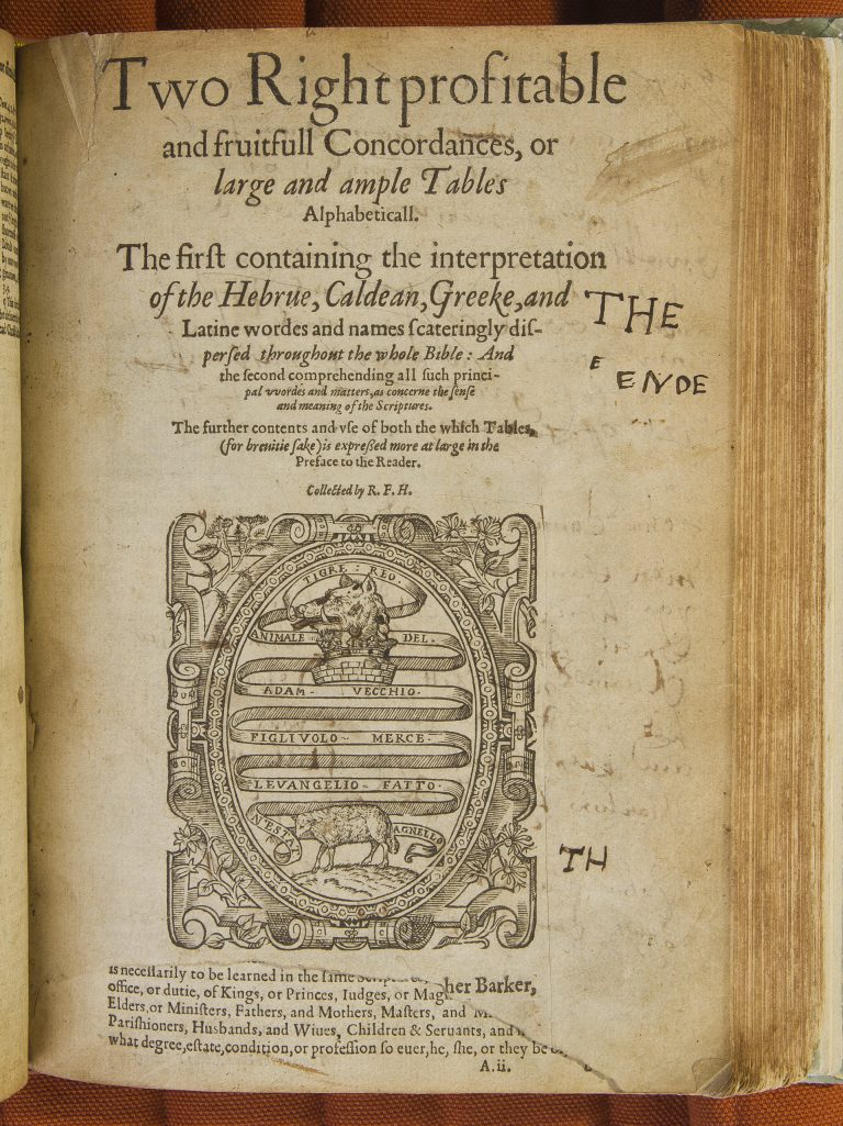 Title page, damaged