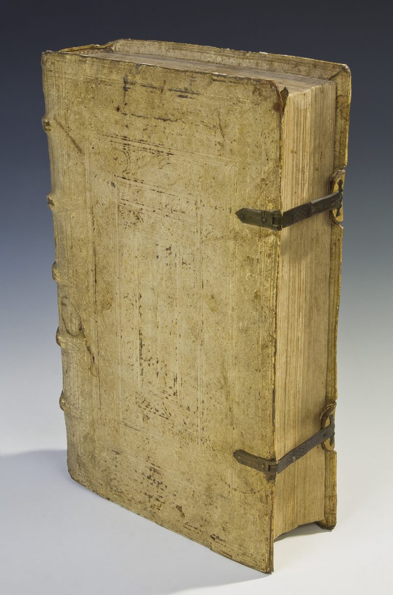 Front of binding