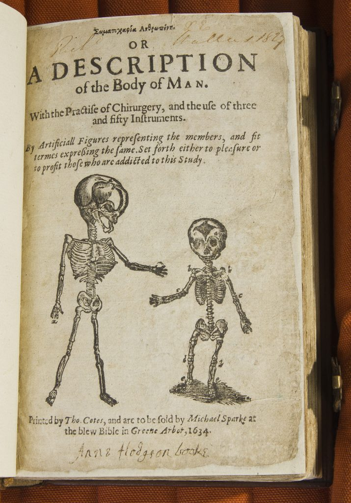 Title page with illustration of two skeletons