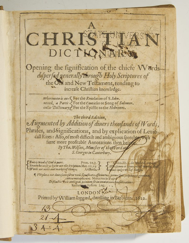 Title page with marginalia