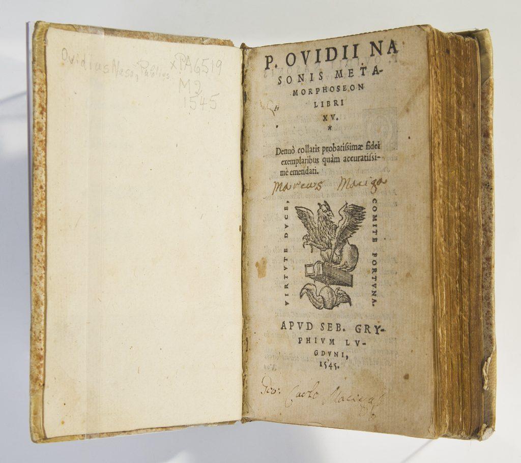 Title Page of Ovid, Metamorphoses