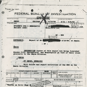 Picture of FBI Document, that was previously confidential