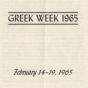 Greek Week 1965 brochure