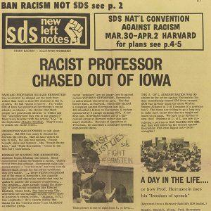 972 SDS Newsletter - Herrnstein incident