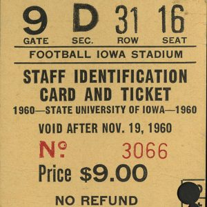 Football game tickets, 1960-69