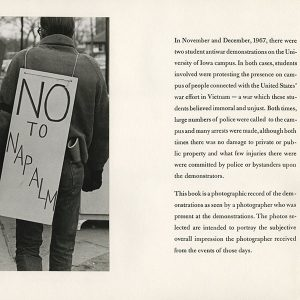 Student protest at Iowa, Spring 1969